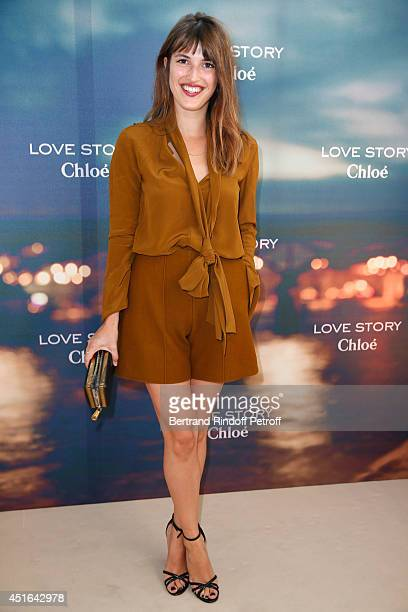 Jeanne Damas attends the launching of Chloe new Perfume 'Love Story' Held at Institut du Monde Arabe on July 2 2014 in Paris France