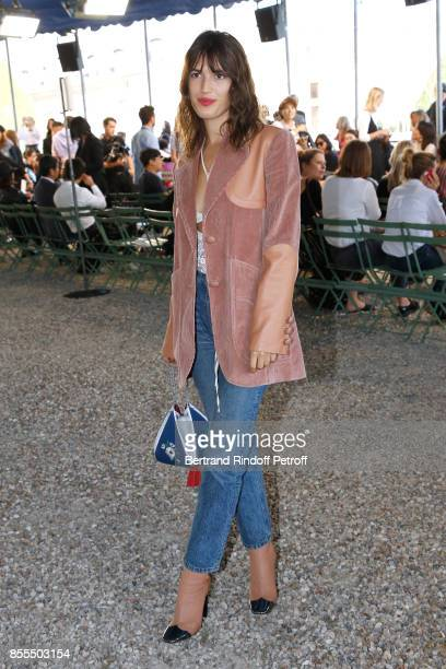 Jeanne Damas attends the Nina Ricci show as part of the Paris Fashion Week Womenswear Spring/Summer 2018 on September 29 2017 in Paris France