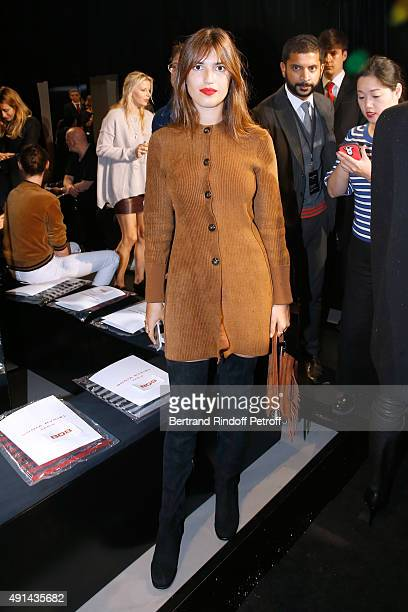 Jeanne Damas attends the Sonia Rykiel show as part of the Paris Fashion Week Womenswear Spring/Summer 2016 on October 5 2015 in Paris France