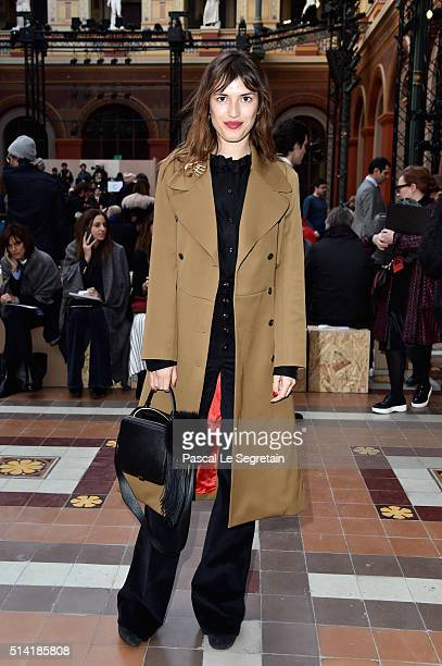 Jeanne Damas attends the Sonia Rykiel show as part of the Paris Fashion Week Womenswear Fall/Winter 2016/2017 on March 7 2016 in Paris France