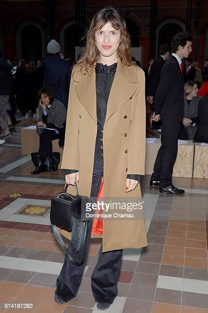 Jeanne Damas attends the Sonia Rykiel show as part of the Paris Fashion Week Womenswear Fall/Winter 2016/2017 on March 7 2016 in Paris France