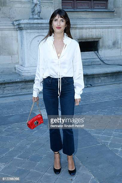 Jeanne Damas attends the Sonia Rykiel show as part of the Paris Fashion Week Womenswear Spring/Summer 2017 on October 3 2016 in Paris France