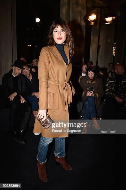 Jeanne Damas attends the Valentino Menswear Fall/Winter 20162017 show as part of Paris Fashion Week on January 20 2016 in Paris France