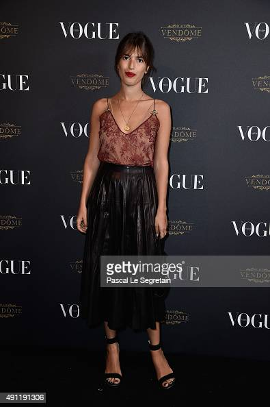 Jeanne Damas attends the Vogue 95th Anniversary Party on October 3 2015 in Paris France