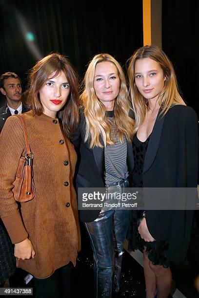 Jeanne Damas Fashion Designer Julie de Libran and Ilona Smet attend the Sonia Rykiel show as part of the Paris Fashion Week Womenswear Spring/Summer...