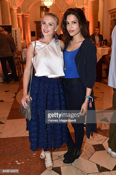 Jeanne Goursaud and Jasmin Lord during the Bavaria Film reception during the Munich Film Festival 2016 at Kuenstlerhaus am Lenbachplatz on June 28...