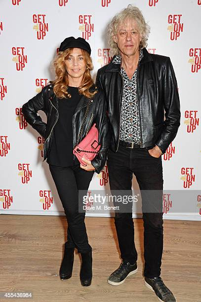 Jeanne Marine and Sir Bob Geldof attend a special screening of 'Get On Up' at The Ham Yard Hotel on September 14 2014 in London England
