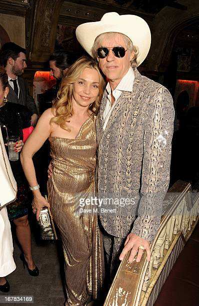 Jeanne Marine and Sir Bob Geldof attend Fran Cutler's surprise birthday party supported by ABSOLUT Elyx at The Box Soho on April 30 2013 in London...