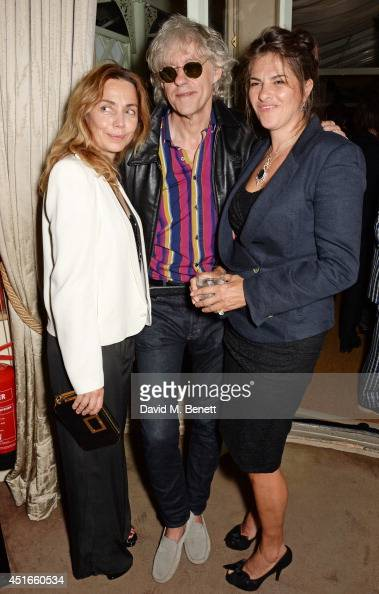 Jeanne Marine Sir Bob Geldof and Tracey Emin attend Tracey Emin's birthday party at Mark's Club on July 3 2014 in London England