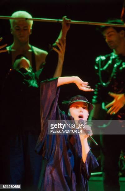 Jeanne Mas à l'Olympia le 17 novembre 1985 à Paris France