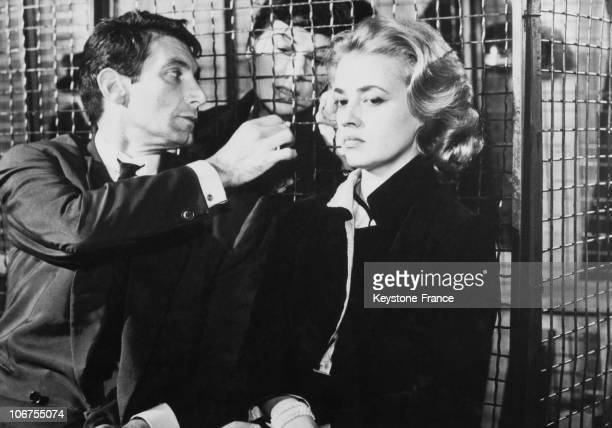 Jeanne Moreau And Felix Marten In The Film Elevator To The Gallows In 1958