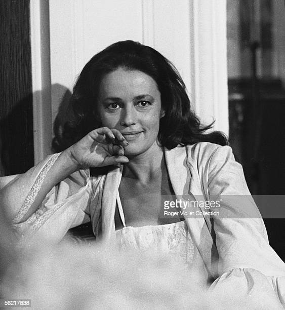 Jeanne Moreau on the shooting of the film of JeanLouis Richard 'MataHari' France Italy 1964