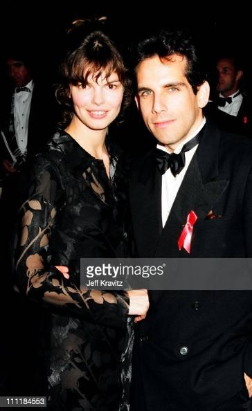 jeanne tripplehorn and ben stiller during 1993 emmy awards