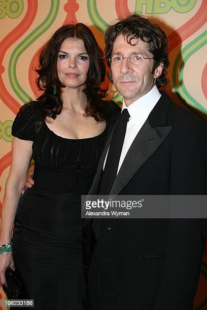 Jeanne Tripplehorn and husband Leland Orser during HBO's 2007 Golden Globe After Party at Beverly Hilton in Beverly Hills California United States