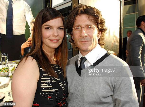 Jeanne Tripplehorn and Leland Orser during 'Big Love' Season Two Premiere Red Carpet at Arclight Cinerama Dome in Hollywood California United States