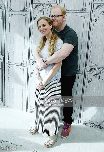 Jeannie Gaffigan and Jim Gaffigan attend AOL BUILD Speaker Series at AOL Studios In New York on May 26 2015 in New York City