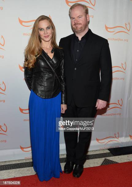 Jeannie Gaffigan and Jim Gaffigan attends the 2013 A Funny Thing Happened On The Way To Cure Parkinson's event benefiting The Michael J Fox...