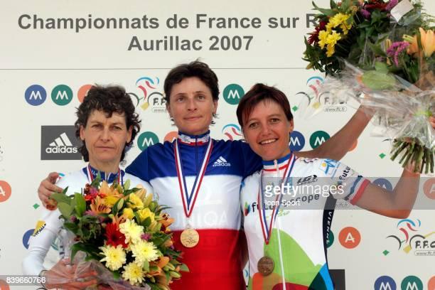 Jeannie LONGO Edwige PITEL Marina JAUNATRE Championnats de France 2007 Course en Ligne femmes Elite Aurillac