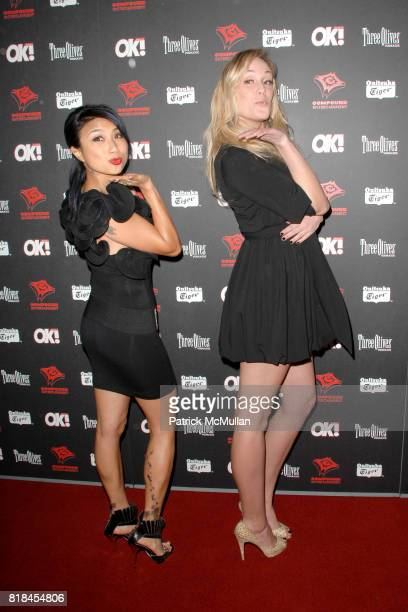 Jeannie Mai and Ashlan Gorse attend 3rd Annual Midnight GRAMMY Brunch Hosted By NeYo at The W Hollywood on January 30 2010 in Hollywood California