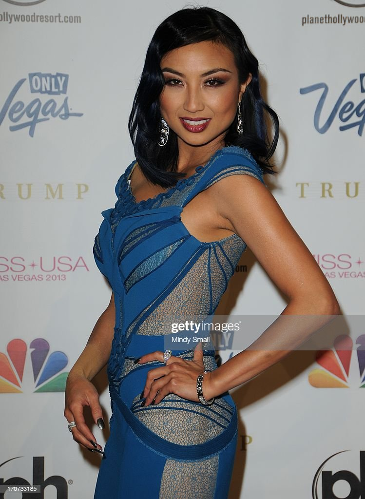 <a gi-track='captionPersonalityLinkClicked' href=/galleries/search?phrase=Jeannie+Mai&family=editorial&specificpeople=5848549 ng-click='$event.stopPropagation()'>Jeannie Mai</a> arrives at the 2013 Miss USA pageant at Planet Hollywood Resort & Casino on June 16, 2013 in Las Vegas, Nevada.