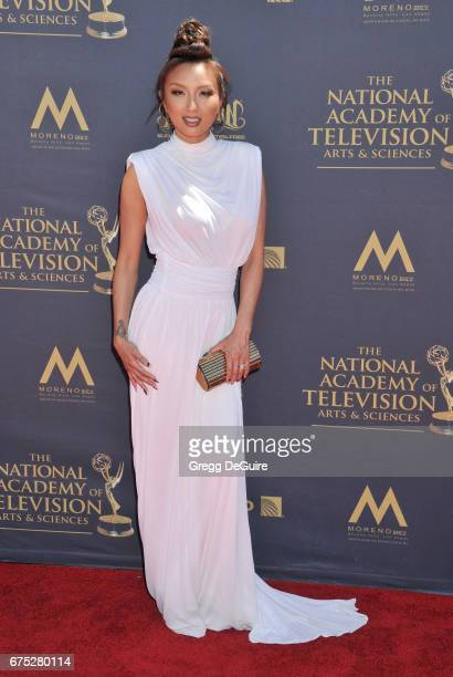 Jeannie Mai arrives at the 44th Annual Daytime Emmy Awards at Pasadena Civic Auditorium on April 30 2017 in Pasadena California