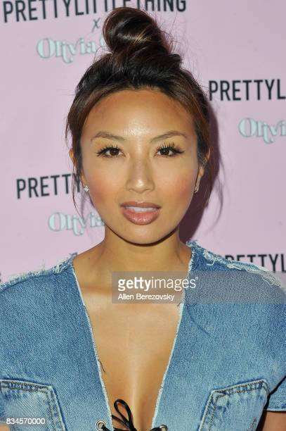 Jeannie Mai attends PrettyLittleThing X Olivia Culpo Launch at Liaison Lounge on August 17 2017 in Los Angeles California
