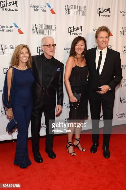 Jeannie Pankow 2017 Inductee James Pankow Joy Lamm and 2017 Inductee Robert Lamm attend the Songwriters Hall Of Fame 48th Annual Induction and Awards...