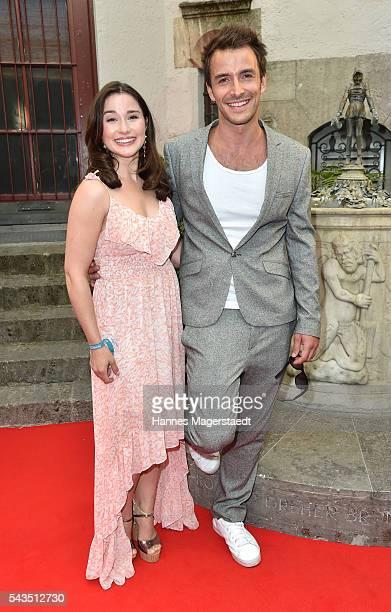 Jeannine Wacker and Max Alberti the Bavaria Film reception during the Munich Film Festival 2016 at Kuenstlerhaus am Lenbachplatz on June 28 2016 in...