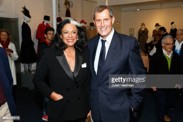 JeanPascal Hesse is pictured during his book signing with Betty Lagardere at Pierre Cardin Museum as part of the Paris Fashion Week Womenswear...