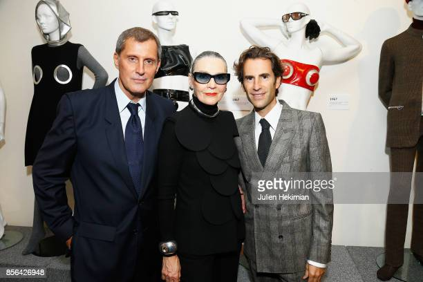 JeanPascal Hesse is pictured during his book signing with Maryse Gaspard and Pierre Pelegri at Pierre Cardin Museum as part of the Paris Fashion Week...