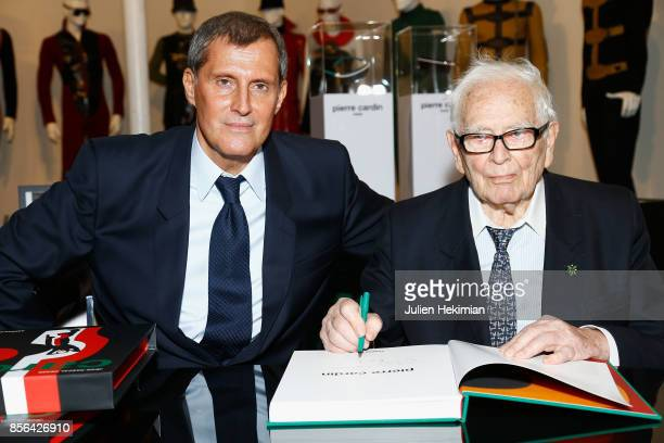JeanPascal Hesse is pictured during his book signing with Pierre Cardin at Pierre Cardin Museum as part of the Paris Fashion Week Womenswear...