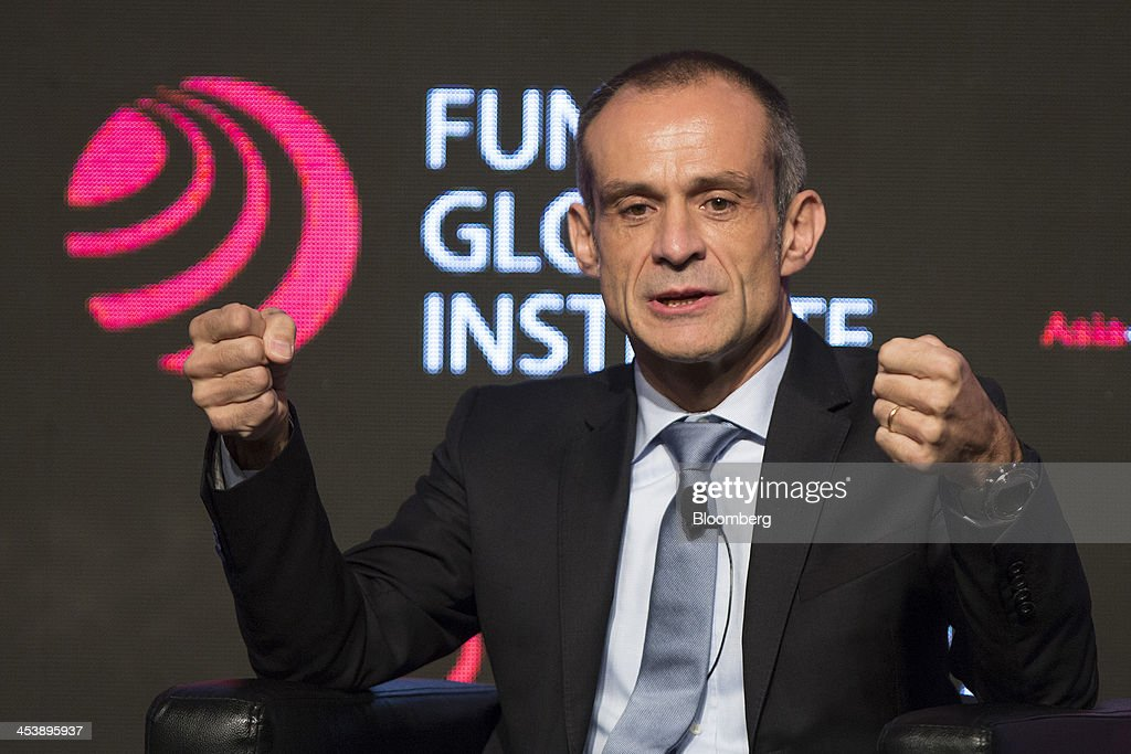 Jean-Pascal Tricoire, chairman and chief executive officer of Schneider Electric SA, speaks during the Asia-Global Dialogue conference in Hong Kong, China, on Friday, Dec. 6, 2013. The Asia-Global Dialogue conference concludes today. Photographer: Jerome Favre/Bloomberg via Getty Images
