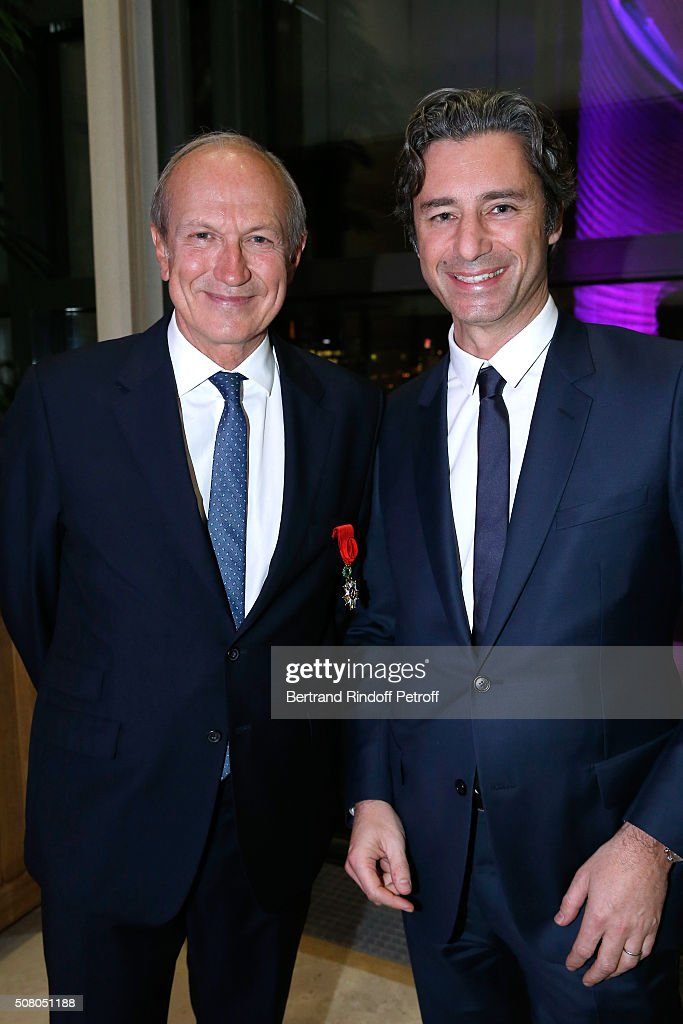 <a gi-track='captionPersonalityLinkClicked' href=/galleries/search?phrase=Jean-Paul+Agon&family=editorial&specificpeople=675160 ng-click='$event.stopPropagation()'>Jean-Paul Agon</a> and Managing Director of Facebook France Laurent Solly attend President of l'Oreal <a gi-track='captionPersonalityLinkClicked' href=/galleries/search?phrase=Jean-Paul+Agon&family=editorial&specificpeople=675160 ng-click='$event.stopPropagation()'>Jean-Paul Agon</a> receives Insignia of Officer of the Legion of Honor at 'Ministere de l'Economie, de l'Industrie et du Numerique' on February 2, 2016 in Paris, France.