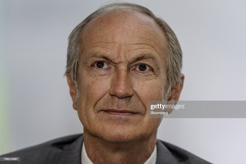 Jean-Paul Agon, chief executive officer of L'Oreal SA, listens during a news conference for the opening of the company's first research and innovation center in Mumbai, India, on Thursday, Jan. 10, 2013. L'Oreal SA, the world's largest cosmetics maker, today inaugurated its new Indian R&I center. Photographer: Dhiraj Singh/Bloomberg via Getty Images