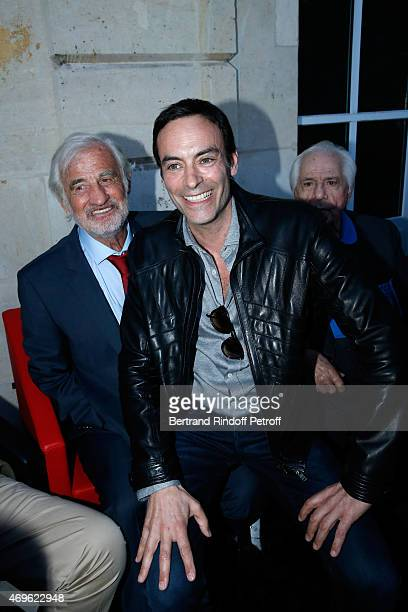 JeanPaul Belmondo and Anthony Delon attend Museum Paul Belmondo celebrates its 5th Anniversary on April 13 2015 in BoulogneBillancourt France