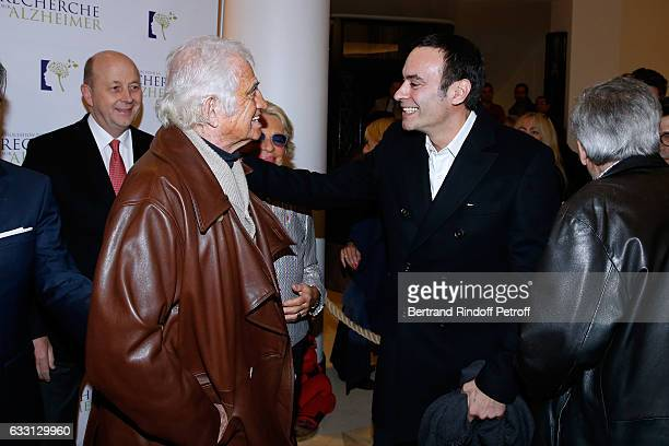 JeanPaul Belmondo and Anthony Delon attend the Charity Gala against Alzheimer's disease at Salle Pleyel on January 30 2017 in Paris France