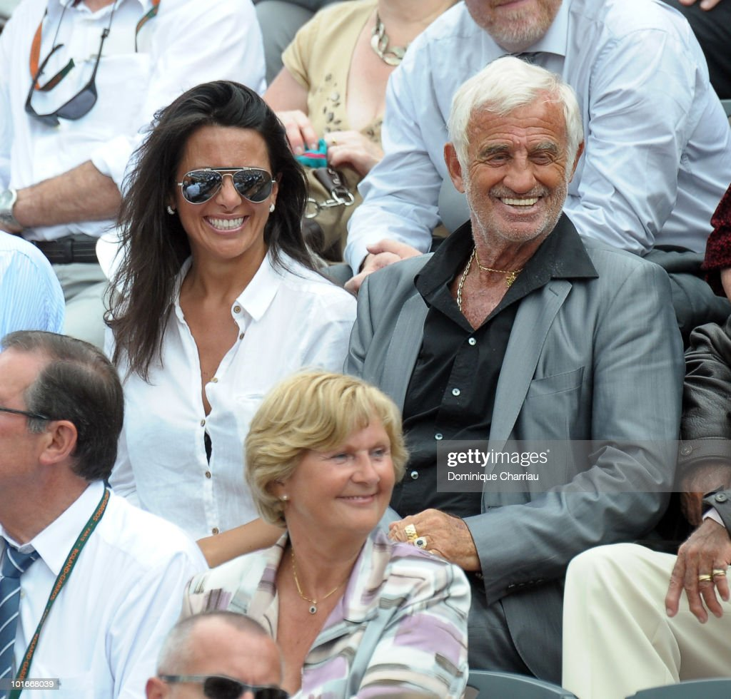 <a gi-track='captionPersonalityLinkClicked' href=/galleries/search?phrase=Jean-Paul+Belmondo&family=editorial&specificpeople=207029 ng-click='$event.stopPropagation()'>Jean-Paul Belmondo</a> and <a gi-track='captionPersonalityLinkClicked' href=/galleries/search?phrase=Barbara+Gandolfi&family=editorial&specificpeople=5661747 ng-click='$event.stopPropagation()'>Barbara Gandolfi</a> are seen at the French Open on June 6, 2010 in Paris, France.