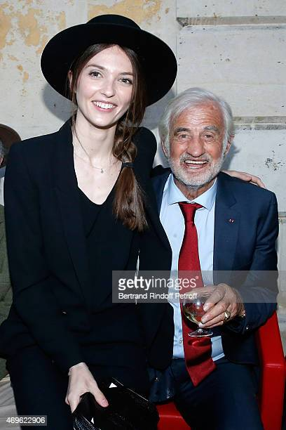 JeanPaul Belmondo and his niece Annabelle Waters Belmondo attend Museum Paul Belmondo celebrates its 5th Anniversary on April 13 2015 in...