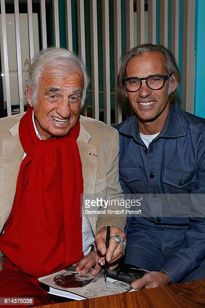 JeanPaul Belmondo and his son Paul Belmondo attend Luana Belmondo presents her book 'Mes Recettes Bonne Humeur' at Ida Restaurant in Paris on October...