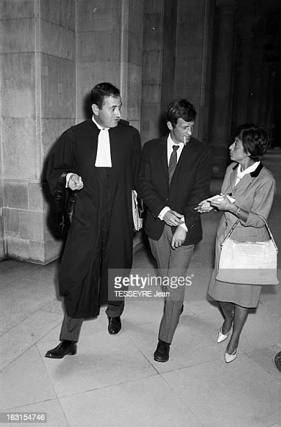 JeanPaul Belmondo At The Court En France à Paris le 26 août 1963 JeanPaul BELMONDO est convoqué au tribunal pour une confrontation avec un policier...