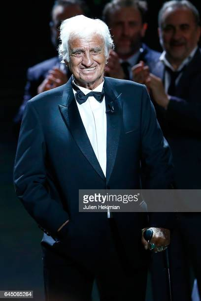 JeanPaul Belmondo is seen on stage during the Cesar Film Awards Ceremony at Salle Pleyel on February 24 2017 in Paris France