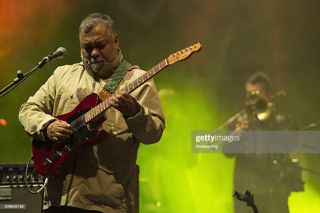 Jean-Paul 'Bluey' Maunick, leader of the band Incognito, performs at the last concert of the Torino Jazz Festival on May 01, 2016 in Turin, Italy. Torino Jazz Festival is an event of 10 days in which artists are connected by the world of jazz.