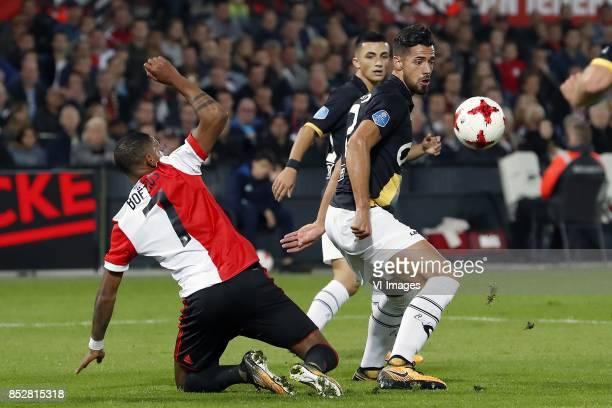 JeanPaul Boetius of Feyenoord Manu Garcia of NAC Breda Pablo Mari Villar of NAC Breda during the Dutch Eredivisie match between Feyenoord Rotterdam...