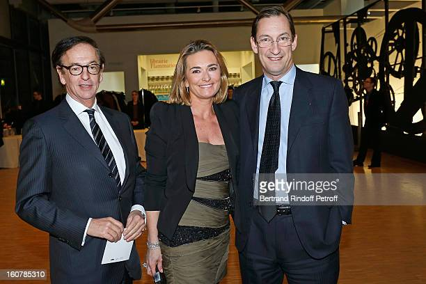 JeanPaul Claverie Fabienne Bazire and Nicolas Bazire attend the 8th Annual Dinner of the 'Societe Des Amis Du Musee D'Art Moderne' at Centre Pompidou...