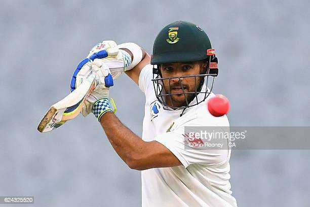 JeanPaul Duminy of South Africa bats during the One Day International tour match between Victoria and South Africa at Melbourne Cricket Ground on...