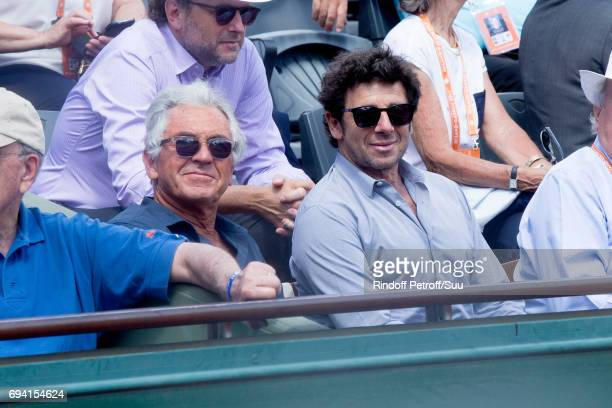 JeanPaul Enthoven and singer Patrick Bruel attend the 2017 French Tennis Open Day Thirteen at Roland Garros on June 9 2017 in Paris France