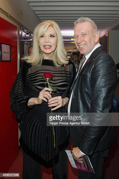 JeanPaul Gaultier and Amanda Lear attend the Artists Against Aids Gala 2014 at Theater des Westens on November 24 2014 in Berlin Germany