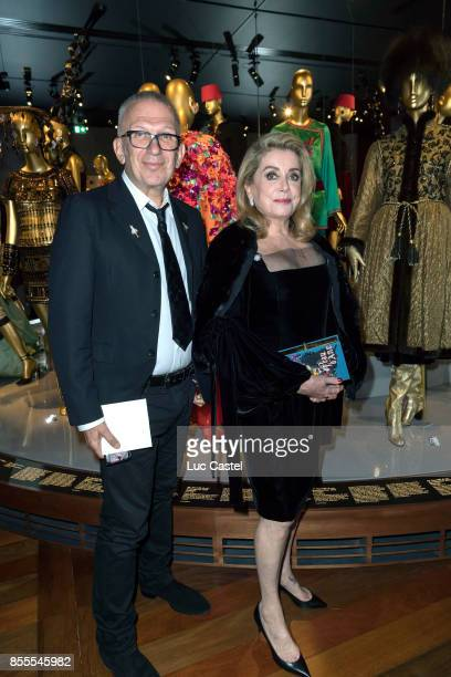 JeanPaul Gaultier and Catherine Deneuve attend the Opening Party at Yves Saint Laurent Museum as part of the Paris Fashion Week Womenswear...