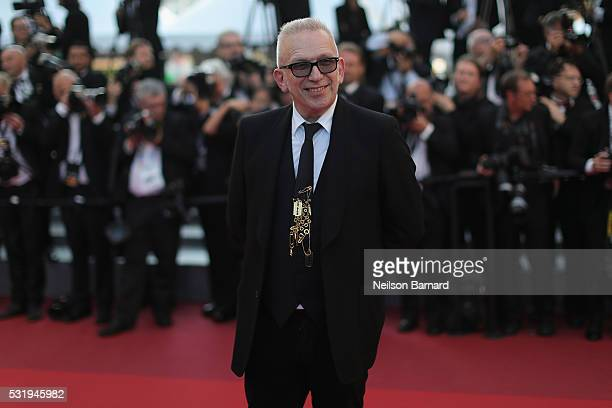 JeanPaul Gaultier attends the 'Julieta' premiere during the 69th annual Cannes Film Festival at the Palais des Festivals on May 17 2016 in Cannes...