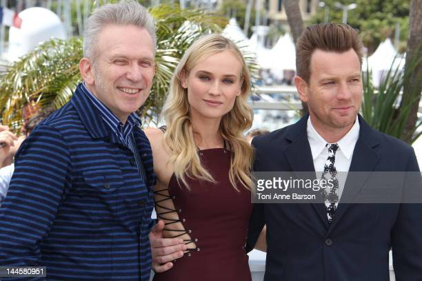 JeanPaul Gaultier Diane Kruger and Ewan McGregor attend Jury Photocall at Palais des Festivals on May 16 2012 in Cannes France